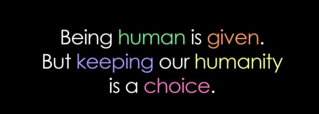 humanity giving people matkassen malinthewriter