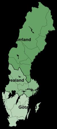 Sverigekarta_Landsdelar